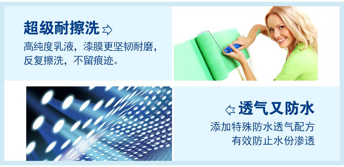 立邦 净味120竹炭2合1无添加内墙乳胶漆 油漆涂料 安全环保 特性