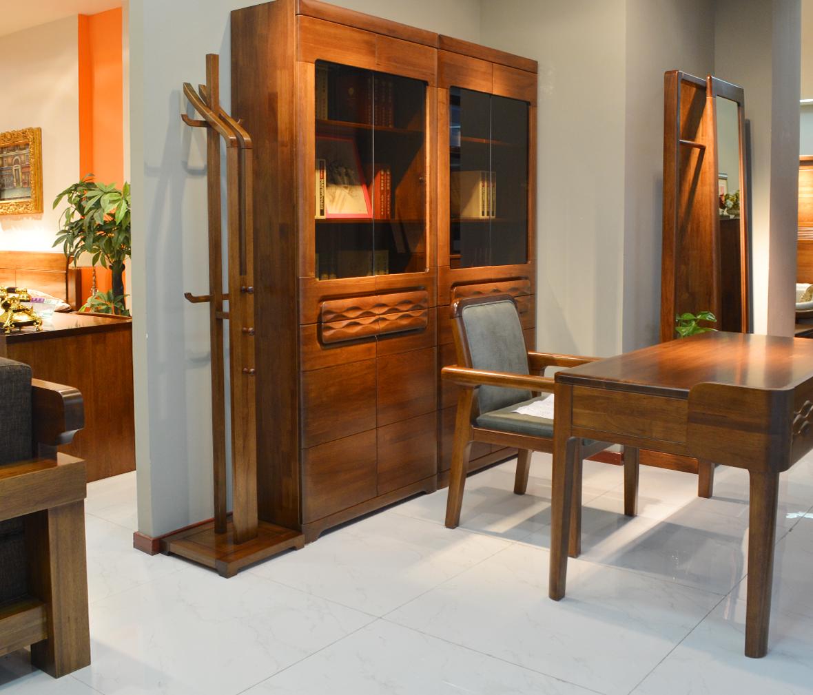 摩纳戈家具 y1601-1型号衣架 胡桃楸木材质 德式简约风格 实木家具