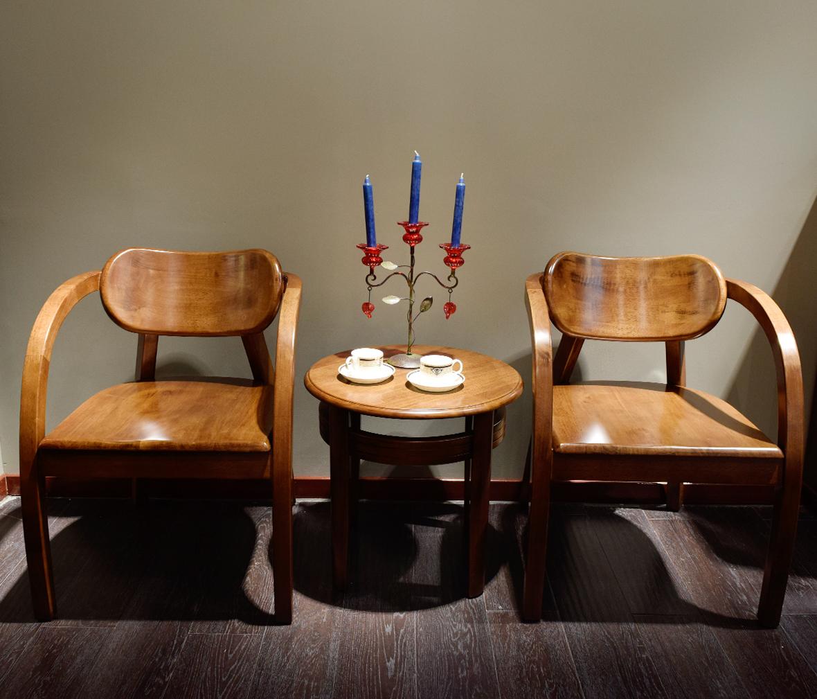 摩纳戈家具 h1601型号休闲几 胡桃楸木材质 德式简约风格 实木家具