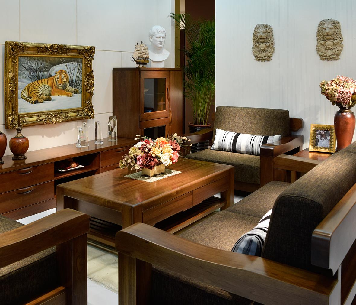 非洲红翅木 现代简约  眼缘:3  双叶家具 春秋椅 双人位沙发 水曲柳材