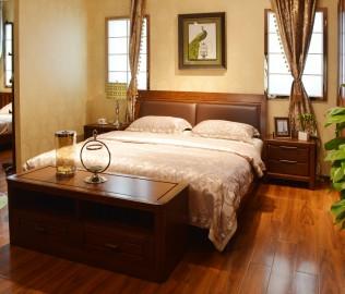 绿芝岛,实木家具,床头柜