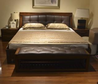 绿芝岛,实木家具,床尾凳