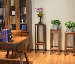 绿芝岛,小花架,实木家具