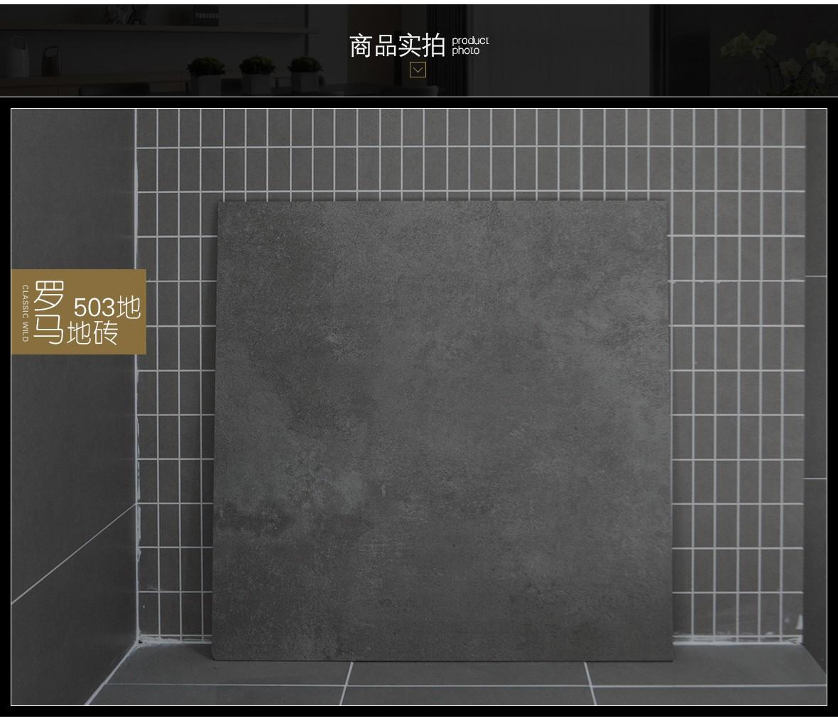罗马磁砖 503地型号环保瓷质地砖 厨房卫生间地砖/主砖/大砖 实拍