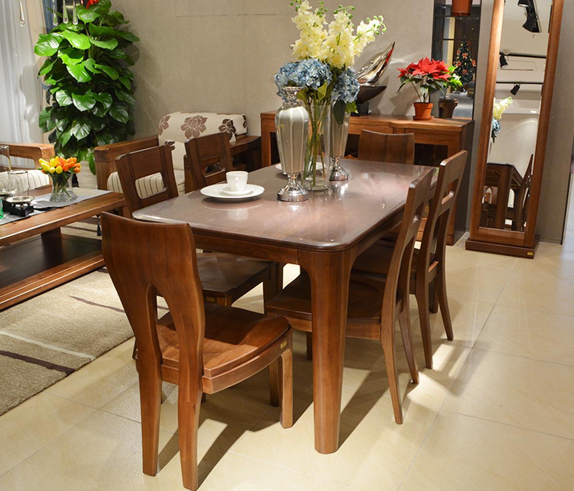 现代简约风格  眼缘:0  尚景家具 dt072-16型号 餐桌 桌子 胡桃木材质