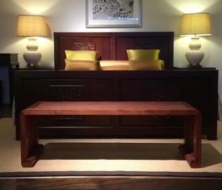 祥华坊,床尾凳,实木家具