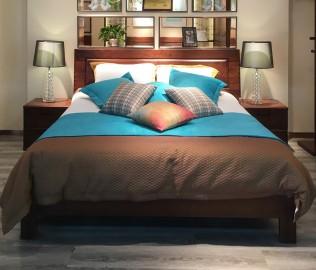 江南宜家,双人床,实木家具