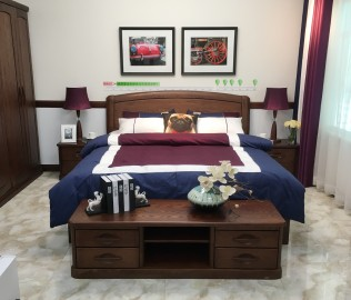 双叶家具,双人床,卧室家具