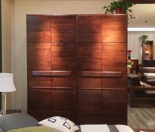 江南宜家,四门衣柜,实木家具
