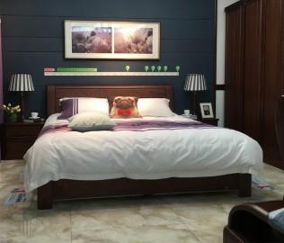 双叶家具,双人床,实木家具