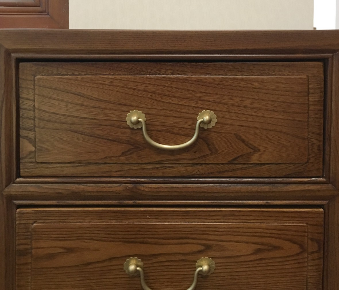 瀚明轩 HMX-1042型号中式古典风格榆木九屉双门柜