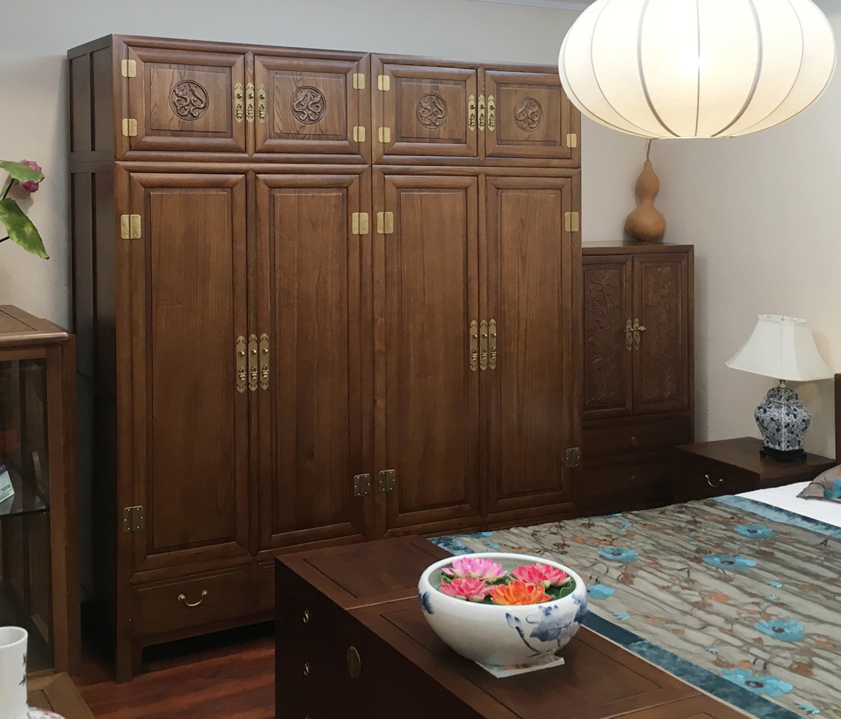 ygl-006型号 富贵平安顶箱大柜 榆木材质 中式古典  眼缘:1  天坛家具