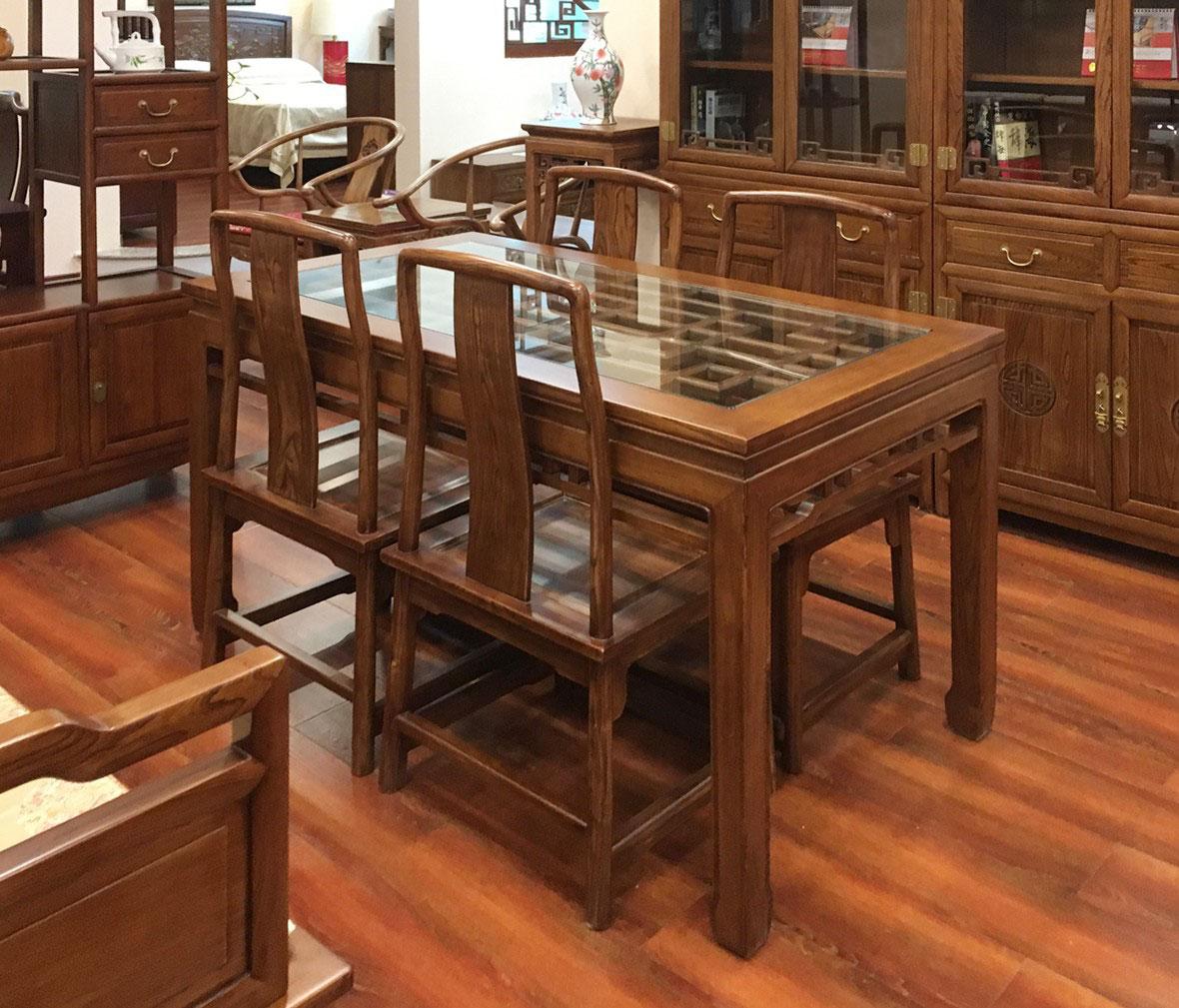联邦家居 j2557型号餐椅 山毛榉材质 现代中式风格 实木家具