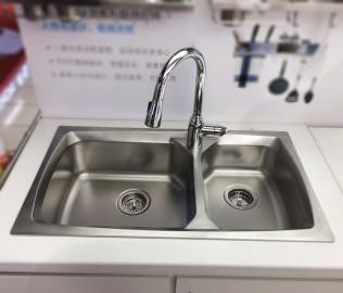 摩恩卫浴,双槽厨盆,水槽