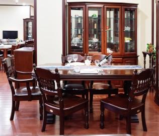 大连华丰,餐椅,实木家具
