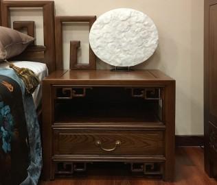 瀚明轩,床头柜,实木家具