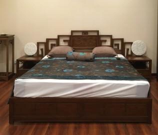 瀚明轩,双人床,实木家具