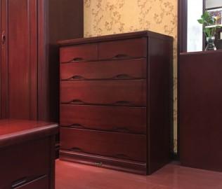 大连华丰,五斗柜,实木家具