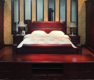 大连华丰,床,实木家具