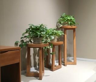 曲美家具,花架,架子