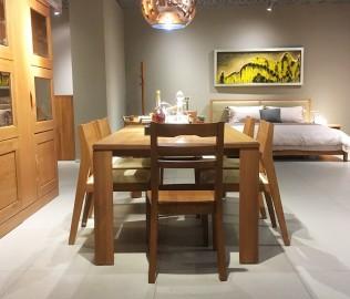 曲美家具,餐桌,桌子