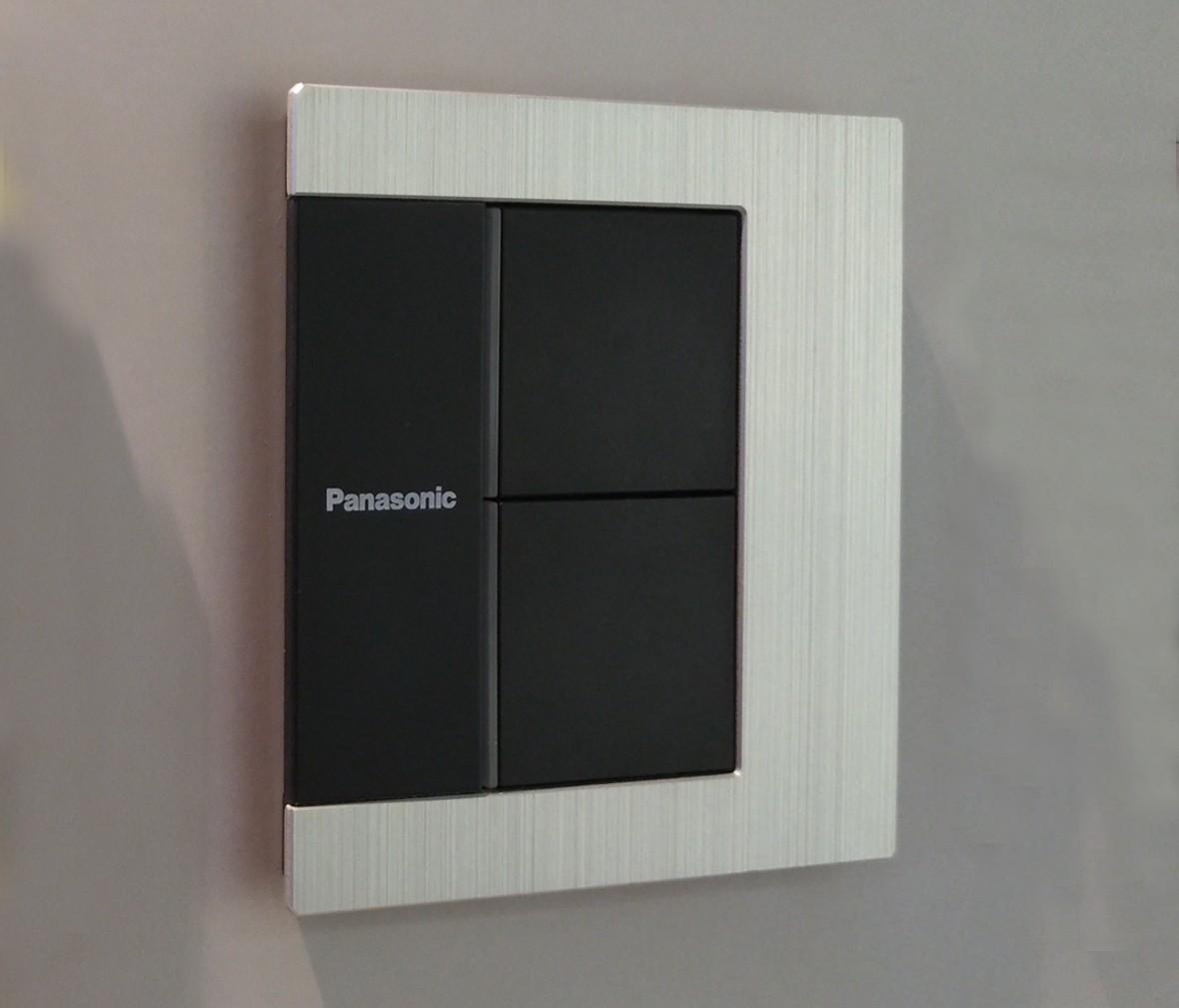 松下灯饰 LEVELART系列 双开双控开关 耐高温 防漏电 PC材质 实拍