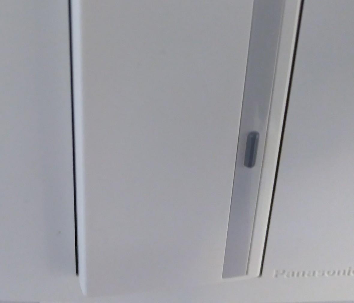 松下灯饰 宏彩系列 单开开关 耐高温 防漏电 PC材质 细节