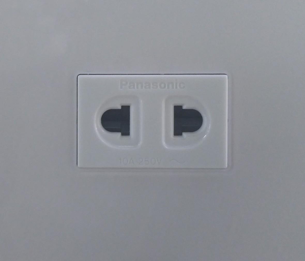 松下灯饰 新姿彩系列 双孔珍珠白插座 耐高温 防漏电 PC材质 细节