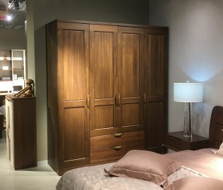 曲美家具,四门衣柜,实木家具