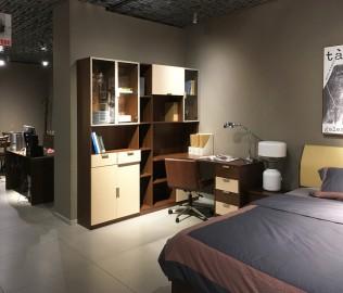 曲美家具,转角书桌,定制家具