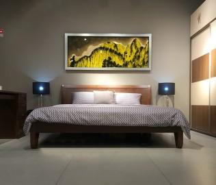 曲美家具,床,平板床