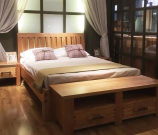 北欧艺家,双人床,实木家具