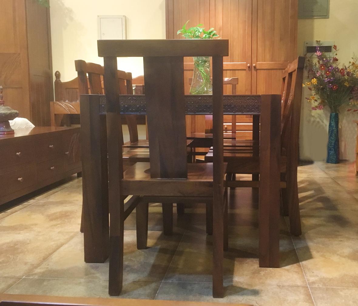森林之源 df型号 现代中式风格楸木餐椅 实木家具