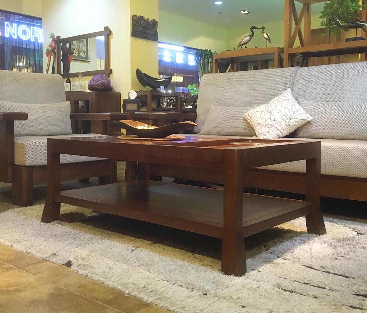 CC型号 现代中式风格楸木茶几 实木家具-迦南橄榄树 6602型号长茶