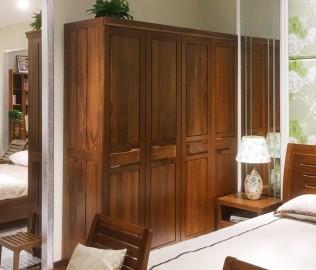 莫霞家居,四门衣柜,实木家具