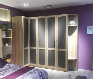 飞美家具,六门衣柜,衣柜