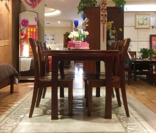 华鹤家具,餐台,实木餐桌