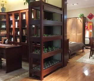 华鹤家具,生态柜,实木柜