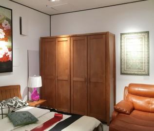 联邦家居,四门衣柜,实木衣柜