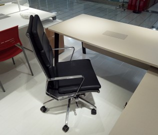 华澳家具,办公椅,仿皮材质