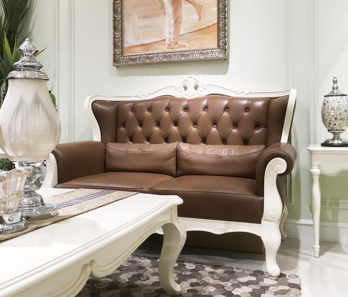 长实北欧 103sw型号双位沙发 欧式风格进口榉木材质实木沙发