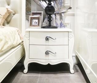 长实北欧,床头柜,实木家具