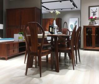 绿芝岛,长餐桌,实木餐桌