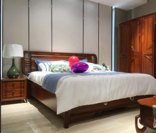 绿芝岛,双人床,实木家具