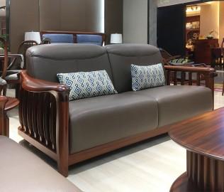 绿芝岛,三人沙发,实木家具