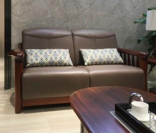 绿芝岛,双人沙发,实木家具