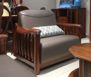 绿芝岛,单人沙发,实木家具
