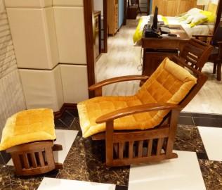 光明家具,摇椅,水曲柳