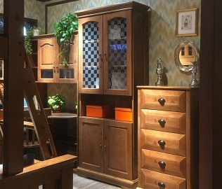 多喜爱,双门书柜,实木书柜