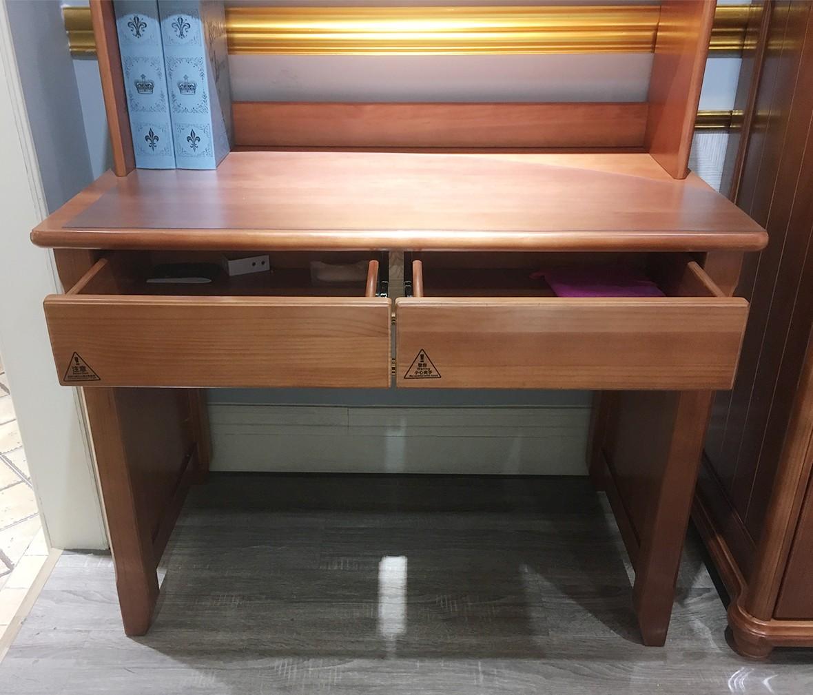 多喜爱儿童家具 QTM601-10-T型号1.0米书桌 进口实木书桌